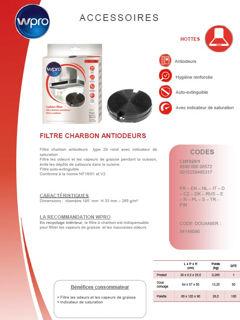 Image sur Filtre de hotte Type 29 - 265 g/m² diam 195mm- CHF029/1