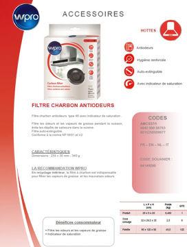 Image de Filtre à charbon pour hottes type 48 - AMC037/1