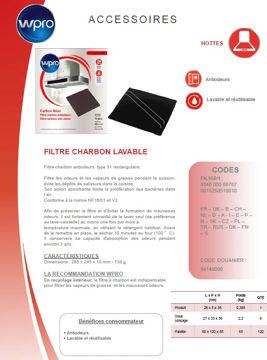 Image de Filtre à charbon Type 31 - dim 285x245x10 - FIL950/1