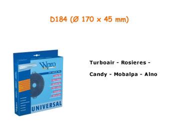 Image de Filtre de hotte à charbon D184 diam 17cm - CHF184