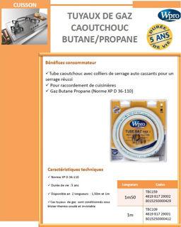 Image sur Tube gaz caoutchouc 5 ans butane/propane 1,5m - TBC159