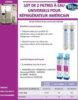 Image sur Lot de 2 filtres à eau USC100 - SMS200
