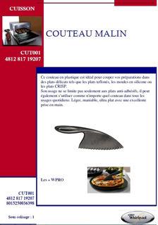 Image sur Couteau malin, idéal pour couper sans rayer  - CUT001