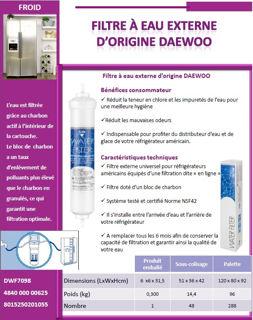 Image sur Filtre à eau d origine Daewoo DD-7098 - DWF7098