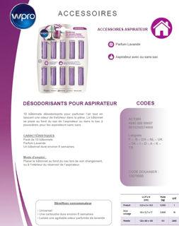 Image sur Désodorisant pour aspirateur - Parfum Lavande - ACT201
