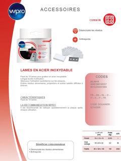 Image sur Boîte de 10 lames acier inoxysable pour grattoir - BLA014
