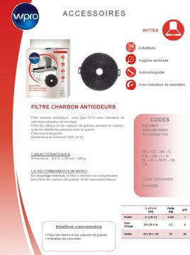 Image de Filtre à charbon type D210 diam 21cm - FAC549/1