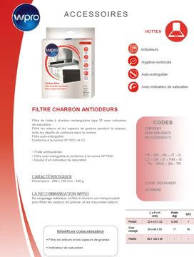 Image de Filtre de hotte à charbon - modèle 35 - CHF035/1