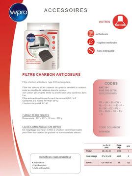 Image de Filtre de hotte à charbon adaptable Roblin- AMC244