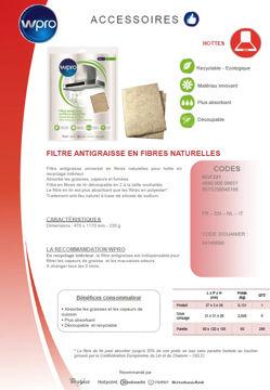 Image de Filtre antigraisse universel en fibres de lin - NGF221