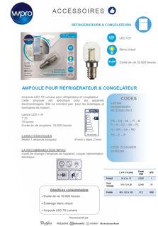 Image sur Ampoule LED 70 Lumens réfrigérateur congélateur- LRF200