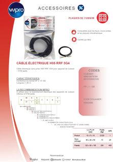 Image sur Câble H05 RRF 3G4 sans prise - longueur 1,45m - CCB340/1
